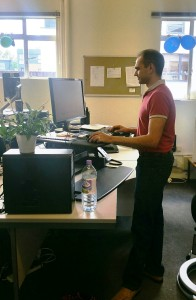 Standing and working Adam