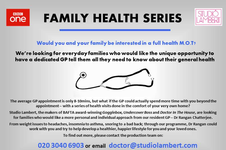 BBC Family Health Flyer